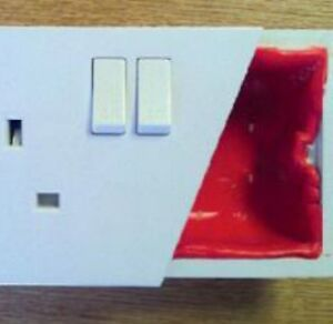 Intumescent Socket Putty Pad Electrical Fire Safety Safire Prevention Product