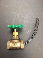 """VINTAGE STEAMPUNK 1/2""""STOP VALVE GREEN HANDLE LIGHT SWITCH FOR STEAMPUNK LAMPS"""