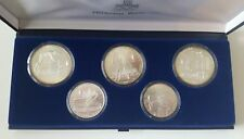 1980 OLYMPIC GAMES MOSCOW USSR Sterling Silver Proof Coin Set in original case