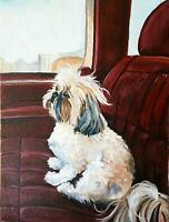 Custom Pet Oil Painting Portrait, Dogs, Cats Painted by American Artist R Zebley
