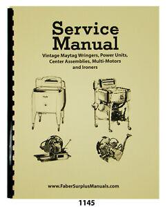 Maytag Service Manual For Vinatage Multi-Motors & Power Units #1145