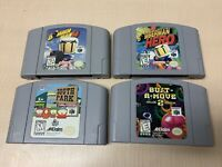 Lot of 4 N64 Nintendo 64 Games Tested & Cleaned