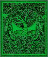 """CELTIC DRUID KNOTWORK TREE OF LIFE Tapestry/Wall Hanging/Bedspread 53""""X76"""""""