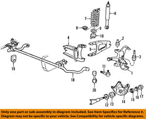 FORD OEM 92-95 F-150 Front Suspension-Lower Ball Joint F6TZ3050AB