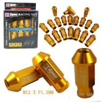 YELLOW GOLD 20 Pieces D1SPEC Light Weight Billet Racing Wheel Lug Nuts M12x1.5