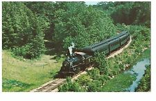 POSTCARD US TRAIN - STEAM TRAIN AND RIVERBOAT - VALLEY RAILOAD ESSEX