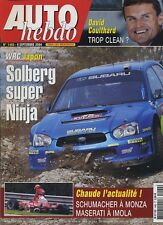 AUTO HEBDO n°1460 du 9 Septembre 2004 DAVID COULTHARD WRC JAPON