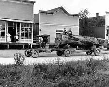 8x10 C CAB LOG TRUCK SILVANA GENERAL STORE WA 1915 WASHINGTON LOGGING PHOTO