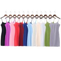 Womens Chiffon Strappy Cami Full Slip Under Dress Petticoat Underskirt Lingerie