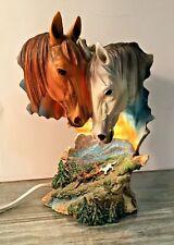 Horse Table Lamp Night Light Horse Home Decor Resin