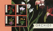 Guyana 2012 Gomma integra, non linguellato Orchidee del Sud America 4v M/S Masdevallia FLORA FIORI