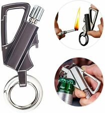 Fire Starter Keychain Multitool with Flint Metal Matchstick and Bottle Opener