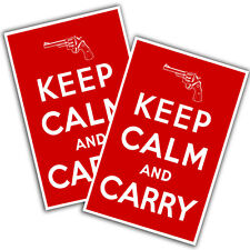 "Red and White Keep Calm And Carry 11x17"" Two Wall Posters"