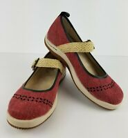 Red Jambu Rosie Eco Friendly Mary Jane Shoes Flats Women's Size 6 M