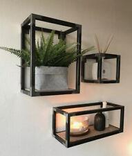 Metal / Steel Rustic Box Shelves Wall Art Decor 3 Set