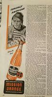 1944 Mission orange soda American little girl Coast Guard hat ad