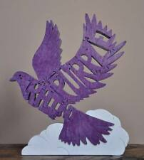 Purple Rain Dove Crying Tribute Prince Scroll Saw Toy Puzzle Figurine