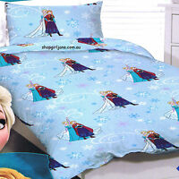 Disney Frozen small Anna & Elsa - Single/US Twin Bed Quilt Doona Duvet Cover set