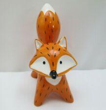 "Red & Black Fox 5"" Porcelain Figurine Statue"
