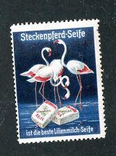 Vintage Poster Stamp Label STECKENPFERD SEIFE German Lily Milk Soap FLAMINGO