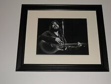 """Bob Seger on Stage with Guitar B/W 1980 Tour (Against the Wind) Framed 14""""x17"""""""
