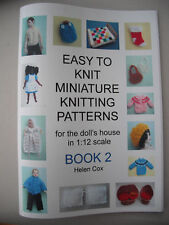 MINIATURE KNITTING PATTERNS for the dolls house 1:12 scale by Helen Cox BOOK 2