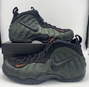 """Nike Air Foamposite Pro """"Sequioa"""" 624041-304 Green Orange Black Men's Size"""