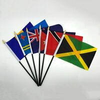 CARIBBEAN Hand Table Flags ALL COUNTRIES Without Base Country Display Islands UK