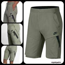 2XL-NUOVO ~ 819598 010 Nike TECH FLEECE Stampato Pantaloncini Grigio