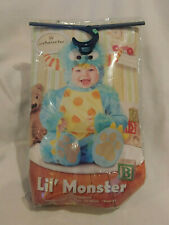 Boy InCharacter Lil Monster Blue Halloween Costume Size M 12-18   Months