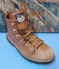 Georgia Youth G2114 Brown Leather Work Boots Shoes size 5M