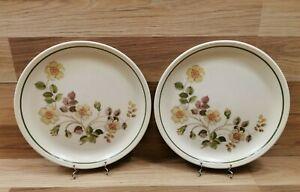 "2 x Vintage Marks And Spencer Autumn Leaves 10.5"" Dinner Plates"