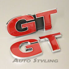 GT Grill + Rear Boot Badge Emblem Logo For VW Golf Scirocco Passat CC Sport 19rs