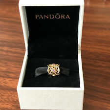 NEW! Authentic Pandora 14K Gold Golden Radiance Pink Sapphire Charm #750803PSA