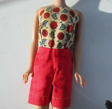 Vintage Barbie Doll Clone Clothes Nautical Jumper Short Set 1960s Vintage Red