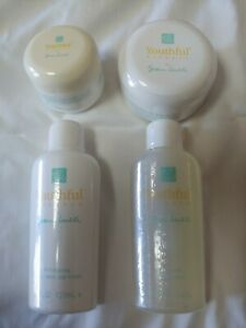 Susan lucci youthful essence 4pc set Inc facial mist toner, wash cream sunscreen