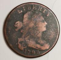 1798 Large Cent.  Cud Reverse.  Good.  130508