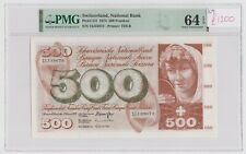 More details for switzerland 500 franken dated 1974 p51l pmg 64 epq uncirculsted unc