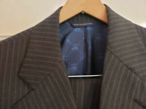 NWOT Brooks Brothers Custom Tailored Golden Fleece Wool Suit 40L Gray Striped