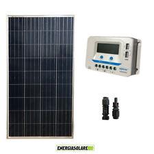 Kit solare pannello fotovoltaico 150W regolatore di carica EpSolar 20A prese USB