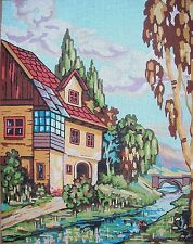 EP TV21 House in the Valley Tivonex Printed Needlepoint Canvas