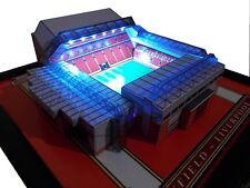 LIVERPOOL ANFIELD MODEL STADIUM WITH WORKING FLOODLIGHTS