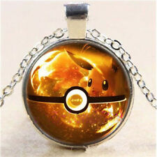 Pokemon Eevee Ball Photo Cabochon Glass Flat Back Pendant  Necklace Jewelry 1x