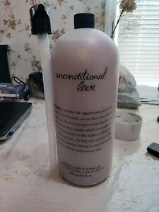 Philosophy Unconditional Love Shampoo Bath & Shower Gel 64 OZ NEW Sealed w/ Pump