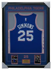 Ben Simmons Signed Philadephia 76ers Jersey Framed 2018 NBA Rookie of Year + COA