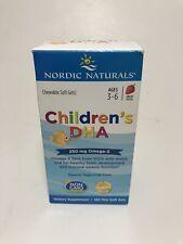 Nordic Naturals Children DHA 250mg Omega-3 180 Mini Soft Gel Chew Strawberry