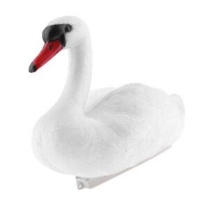 Realistic White Swan Decoy Garden Pond Decoration Plastic Garden Yard Scarer