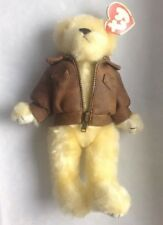 Beanie Babies Attic Treasures Baron Fly High Teddy Bear Leather Pilot Jacket ty
