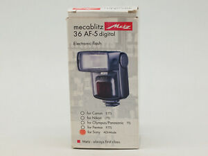 Metz mecablitz 36 AF-5 digital Flash for Sony/Minolta Cameras