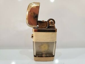 Scripto VU Vintage Working BULLET HOLE Lighter With White Band    1112.29